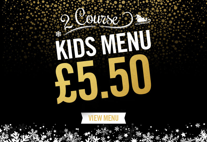 Kids Festive Menu at The Auctioneers